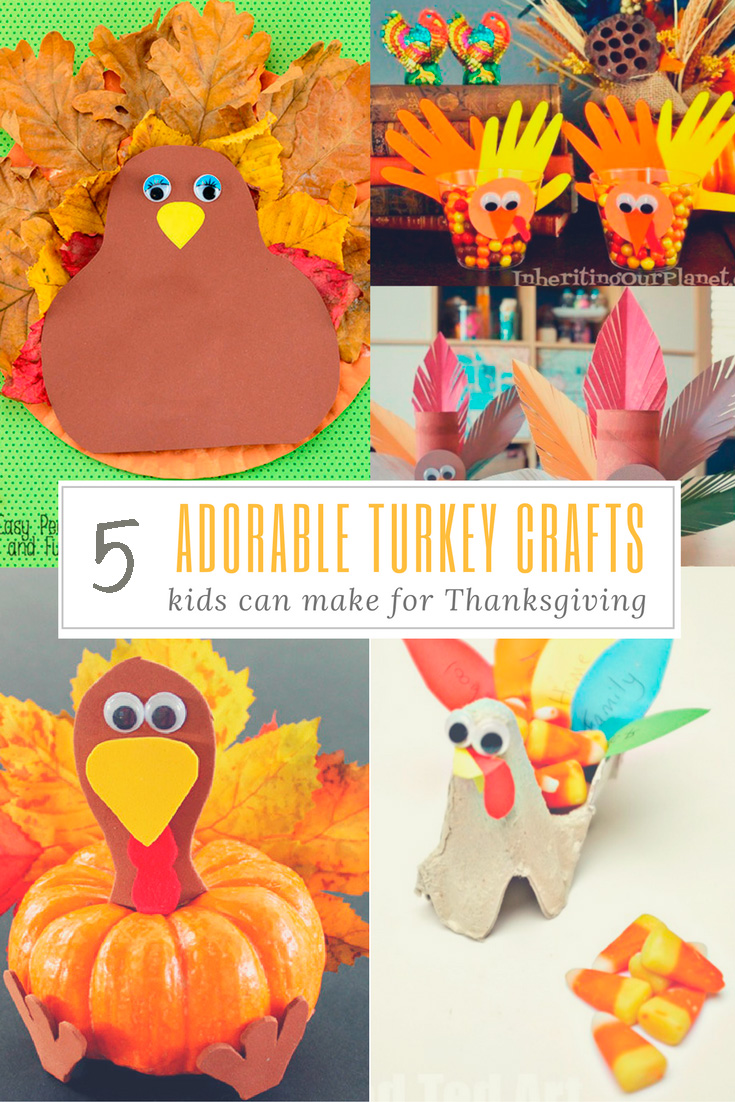 5 Adorable Turkey Crafts Kids Can Make