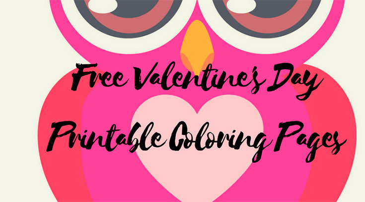 FREE Valentine's Day Printable Coloring Pages