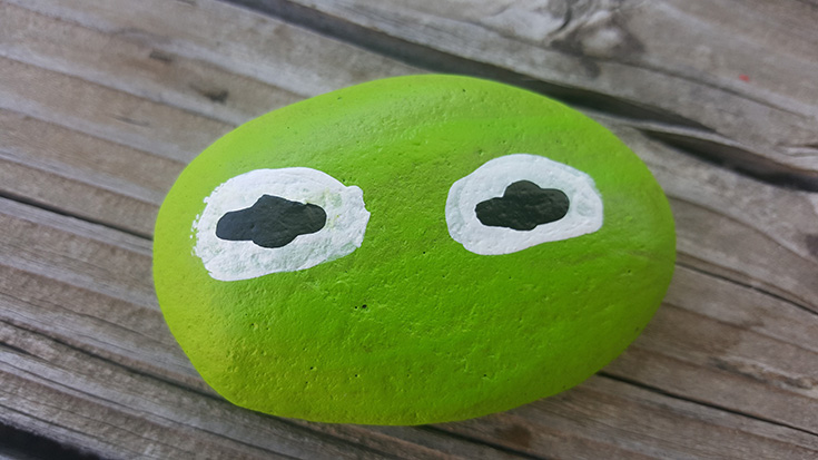 Kermit The Frog Painted Rock Idea