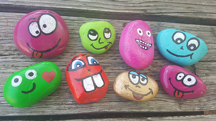 Silly Face Painted Rock Ideas