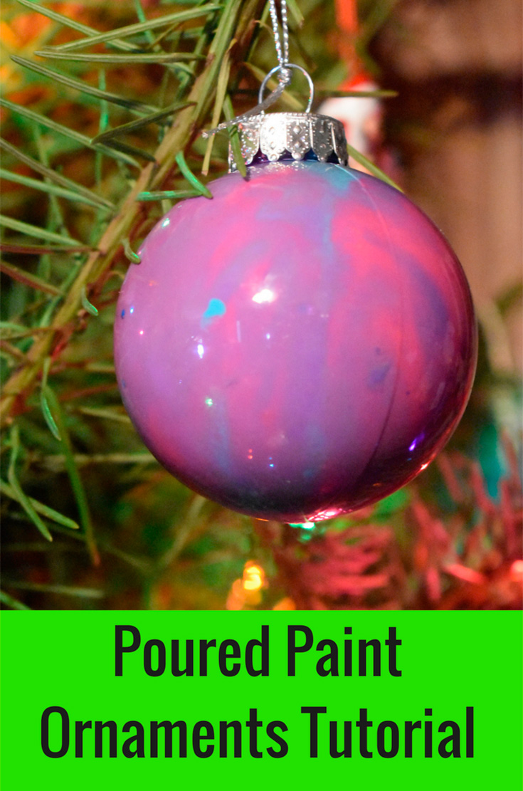 Poured Paint Ornaments Tutorial